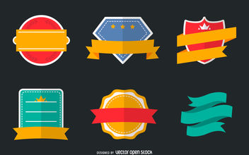 Logo badge set - Free vector #380127
