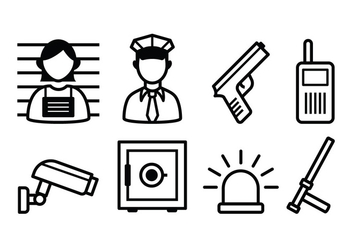 Free Police And Crime Icon Set - vector gratuit #380207