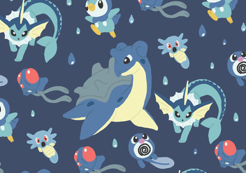 Water Type Pattern - Kostenloses vector #380247