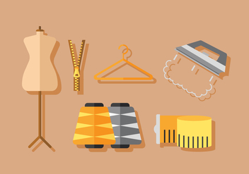 Vector Sewing Elements - vector gratuit #380347
