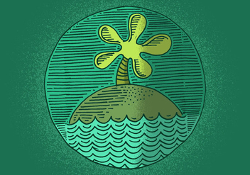Island Badge - vector gratuit #380357