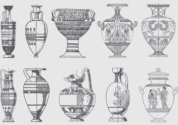 Greek Vessels - vector gratuit #380387