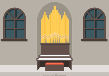 Free Pipe Organ Vector Illustration - Kostenloses vector #380447