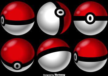 Vector Pokemon Game Balls - vector gratuit #380567