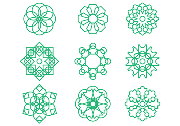 Free Arabesque Graphic Ornament Vectors - vector #380587 gratis