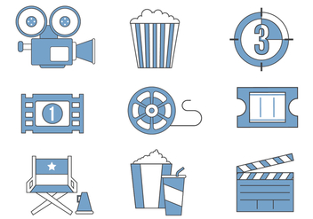 Free Movie Icon Vector - Kostenloses vector #380597