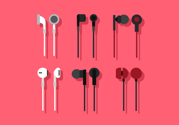 Vector Ear Buds - vector gratuit #380647