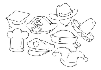 Free Hand Drawing Hat Icon Vector - Free vector #380687