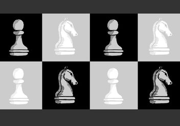 Chess Knight Pawn Vectors - vector gratuit #380777