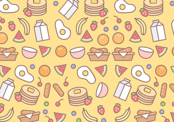 Free Breakfast Pattern Vector - бесплатный vector #380787