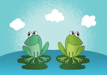 Happy Frogs Vector - vector gratuit #380797