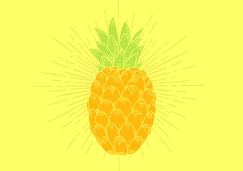 Pineapple Vector - vector gratuit #380817