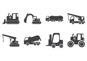 Free Construction Vehicle Silhouette Vector - vector gratuit #380827