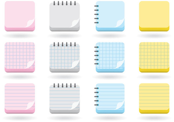 Flip Pages Icons - Free vector #380867