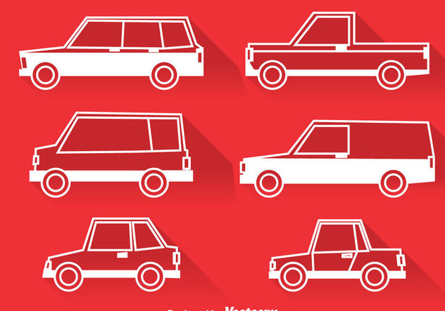 Classic Cars White Icons - vector #380887 gratis