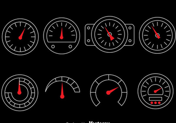 Tachometer Vector Set - бесплатный vector #380917
