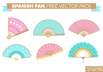 Spanish Fan Free Vector Pack - Kostenloses vector #380927