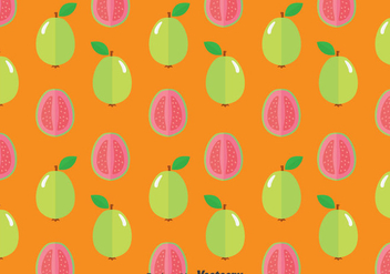Guava Fruit Seamless Pattern - Free vector #380977