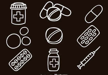 Medicie Hand Draw Icons - Free vector #381047