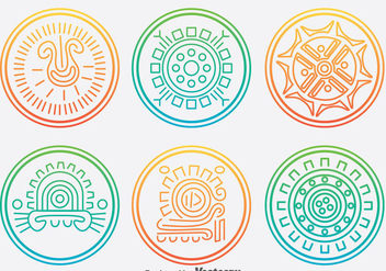 Incas Circle Ornament Vector Set - Free vector #381167