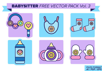 Babysitter Free Vector Pack Vol. 3 - бесплатный vector #381227