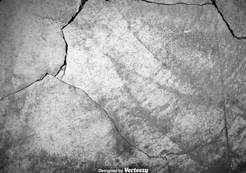 Vector Gray Cracked Concrete Texture - vector gratuit #381317