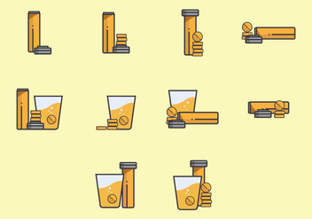 Effervescent Step by Step and Position Icon Set - бесплатный vector #381387