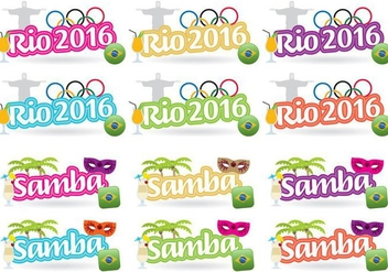 Rio 2016 Titles - Free vector #381487