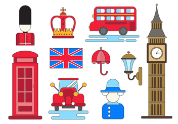 Free England Vector Icons - Free vector #381577