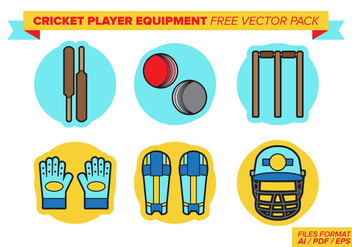 Cricket Player Equipment Free Vector Pack - Free vector #381617