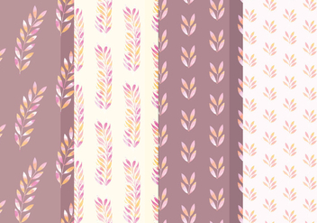 Vector Branch Watercolor Patterns - vector gratuit #381627