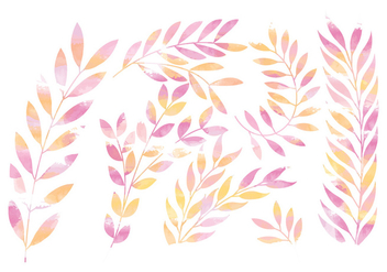 Vector Pink Floral Branches - Kostenloses vector #381657