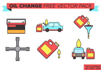 Oil Change Free Vector Pack - Kostenloses vector #381697