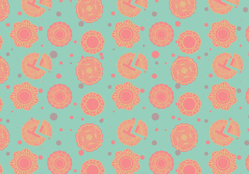 Mooncake Pattern Vector - Free vector #381727