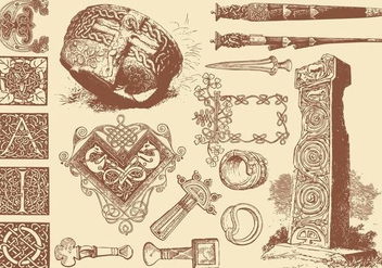 Celtic Art Crafts - Free vector #381777