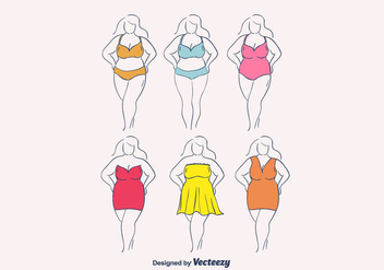 Plus Size Woman Vector - Free vector #381857