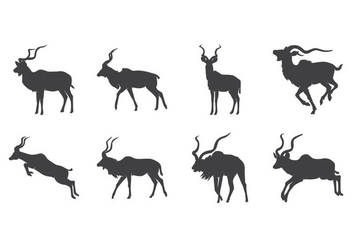 Free Kudu Silhouette Vector - Free vector #381907