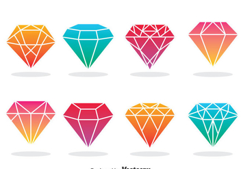 Diamond Icons Vector - vector gratuit #381917