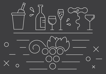 Free Wine Icons - vector gratuit #382037