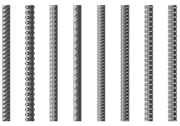 Set Of Rebar Vector - Free vector #382077