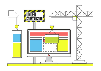 Free Website Contruction Icons - Free vector #382087