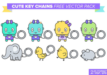 Cute Key Chains Free Vector Pack - Free vector #382137