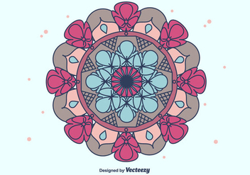 Colorful Mandala Vector - vector gratuit #382167