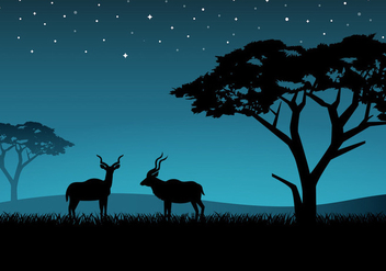 Free Couple Kudu Vector - vector gratuit #382307