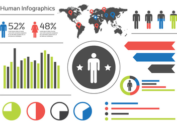 World Infographic Illustration - vector #382327 gratis