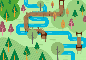 Free River Vector Illustration - бесплатный vector #382367