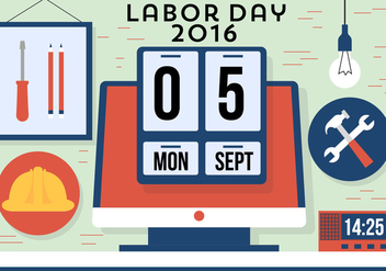 Free Labor Day Vector - vector gratuit #382377
