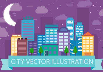 Free Cityscape Vector Illustration - бесплатный vector #382557