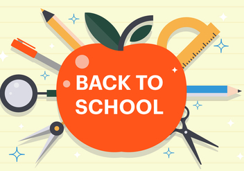Free Flat Back to School Vector Illustration - бесплатный vector #382567