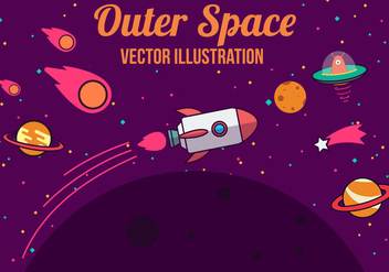 Free Space Vector Illustration - vector gratuit #382577